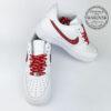Nike supreme air force 1 white red